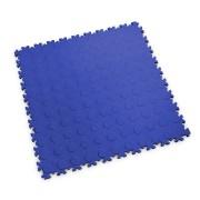 Modrá vinylová plastová zátěžová dlaždice Industry 2040 (penízky), Fortelock - délka 51 cm, šířka 51 cm a výška 0,7 cm