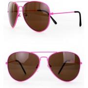 Zonnebril/ Pilotenbril fluor pink