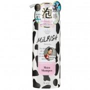 MILRISH Шампунь-уход бессиликоновый с молочными протеинами «Увлажнение и сила», 500 г.