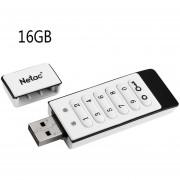 Flash Drive Netac U618 USB 2.0 Flash Drive De Bloqueo De Teclado AES De 256 Bits De Cifrado De Hardware Fuera De Línea Dos Particiones