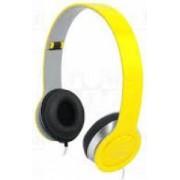 Casti LogiLink Stereo High Quality cu microfon Galbene