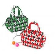 パーリーゲイツ バッグ&ポーチ ゴルフウェアメンズ アーガイル柄やわらかカートバッグ