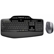 Tastatura+miš wireless US Logitech MK710, crna/siva-