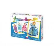 SentoSphere Princesses Artistic Junior Watercolor Art Kit with 4 magic canvases