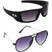 Hrinkar Sports Sunglasses(Blue, Violet)