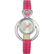 The Shopoholic Analog Designer White Dial With Pink Plastic Belt Watches For Women-Watches For Girls New