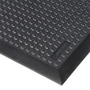 Černá gumová protiúnavová průmyslová rohož Skystep, Nitrile - délka 60 cm, šířka 90 cm a výška 1,3 cm