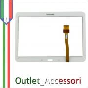 Vetro Touch Screen Samsung Galaxy Tab 4 SM T530 T535 BIANCO Touchscreen Ricambio