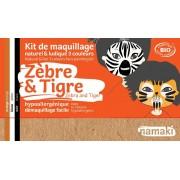 NAMAKI Kit maquillage bio 3 couleurs - Zèbre et Tigre