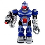 Super Android Robot Toy for Kids with Space Blaster Grip Claw Hand Lights & Sound by Liberty Imports