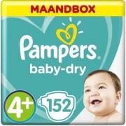 Pampers Baby-Dry Luiers - Maat 4+ (10-15 kg) - 152 stuks - Maandbox