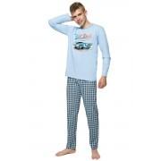 Franta fiú pizsama autóval, kék 146