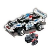 UniBlock Remote Controlled RC Building Block Police Car High Speed Chase Vehicles - Compatible With