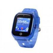 Ceas Smartwatch Pentru Copii Wonlex KT01 cu Functie Telefon Localizare GPS Camera Pedometru SOS IP67 - Albastru Bonus Cartela Prepaid Vodafone 10
