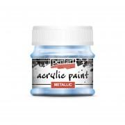 Pentart Metál világoskék színű akril bázisú hobbi festék 50 ml