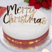 Decoratiune tort Merry Christmas