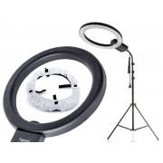 Lampa pierścieniowa do makijażu RING NG-65C 65W + Statyw 805 + Dyfuzor