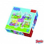 Trefl Puzzle 4 u 1 Peppa Pig (12-343160)