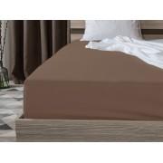 Jersey sötétbarna lepedő 200 x 220 cm