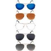 NuVew Aviator Sunglasses(Black, Blue, Brown, Grey, Clear, Blue, Violet)