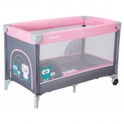 Patut cu 1 nivel HR-8052-176 Owls Pink Baby Mix