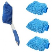 Kurvz Carpet Brush Microfibre Wet and Dry Brush with 3 Microfiber Glove