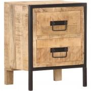 YOUTHUP Table de chevet 40x30x50 cm Bois de manguier brut - YOUTHUP