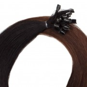 Rapunzel® Hair extensions Bondings Premium Glatt O1.2/2.0 Black Brown Ombre 40 cm