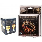 Game of Thrones: Westeros Intrigue Card Game + Funko Game of Thrones Mystery Minis Set Exclusive Blind Box Vinyl Figures Edition pack