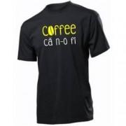 Tricou personalizat negru model Coffe ca n-o fi