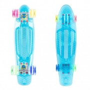 Penny board WORKER Transpy 500 22''cu roti iluminate model 2016