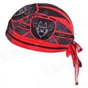 TOPCYCLING Sudar-absorbente 07 Ciclismo Proteccion UV Hat - Negro + Rojo