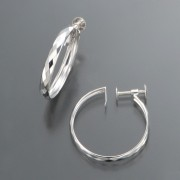 18K カットフープ イヤリング【QVC】40代・50代レディースファッション