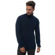 Brooksfield Pullover collo alto Blu Lana vergine Uomo