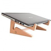 JaamsoRoyals Laptop Stand - Durable Wooden Computer Mounts - for Macbook air Macbook pro Sony Dell HP Acer Thinkpad ASUS EVGA Lenovo Laptops