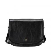 Damen Leder Schultertasche in Schwarz - Aktentasche, Umhängetasche, Businesstasche, Laptoptasche