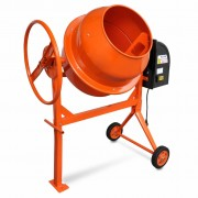 vidaXL Бетонобъркачка стоманена 140 л 650 W, оранжева
