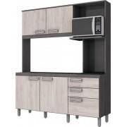 Kit Cozinha Compacta Briz 160cm Gris Palha