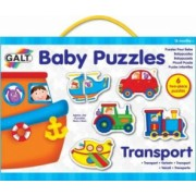Baby Puzzles Set de 6 puzzle-uri Transport 2 piese