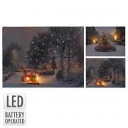 Obraz vianočný 40x30cm s LED osvetlením