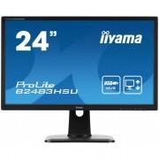 iiyama Prolite monitor LCD LED 24\ B2483HSU-B1DP, FHD, 2ms, DP, DVI