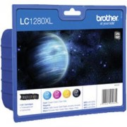 Brother LC-1280XL BK/C/M/Y Value Bonus Pack Ink Cartridge for MFC-J6510/J6910 - LC1280XLVALBP