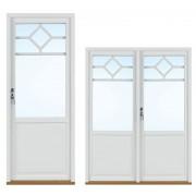 Traryd fönster Altandörr Lingbo 1280x2080/1180mm vänster utåt par 2+1 linjerar öppningsbart