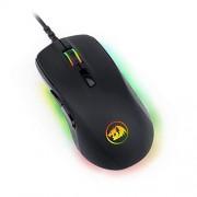 Redragon Ratón óptico para juegos RGB LED retroiluminado MMO con cable Ratón para juegos para computadora, 7 botones programables Ratón para computadora con 5 modos de retroiluminación RGB de hasta 10000 DPI a