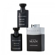 BUulgari Man Black Cologne - Bulgari gift set profumo 100 ml EDT SPRAY + shower gel 75 ml + after shave balm 75 ml