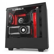 NZXT Caja SemiTorre H500i Matte Black/Red