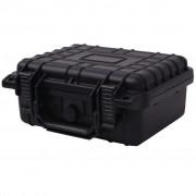 vidaXL Защитен куфар за оборудване, 27 x 24,5 x 12,4 cм, черен