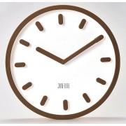 Hnědé moderní nástěnné hodiny JVD TIME H81.3
