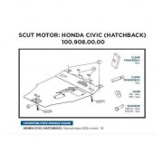 Scut Motor Metalic Asam Honda Civic Dupa 2005
