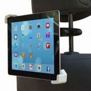 Shop4 - iPad Mini - Autohouder Hoofdsteun Tablet Houder Klem Zwart